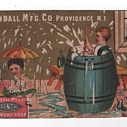 Kendall Manufacturing Company French Laundry Soap trade card