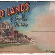 Souvenir Folder of the Badlands of SD South Dakota