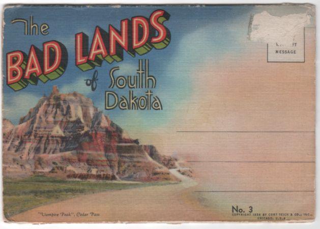 Souvenir Folder of the Badlands of SD South Dakota