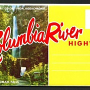 Chrome Souvenir Folder of the Columbia River Highway