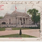 Indiana State Building Louisiana Purchase Exposition St Louis MO 1904