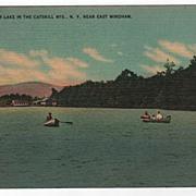 Silver Lake Catskills East Windham New York NY Postcard