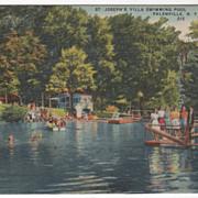 St. Joseph's Villa Swimming Pool Palenville NY New York Vintage Postcard