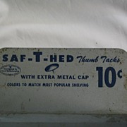 Metal Saf-T-Hed Thumb Tack Advertising Display Bin