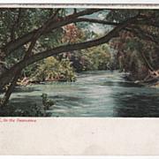 Asheville NC North Carolina on the Swannanoa Vintage Postcard