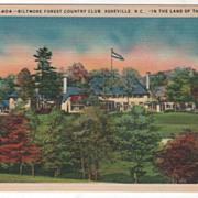 Biltmore Forest Country Club Asheville NC North Carolina Vintage Postcard