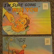 Two Souvenir Folders in the Comic Genre