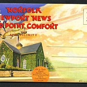 SOLD Souvenir Folder Norfolk Newport News Old Point Comfort and Vicinity