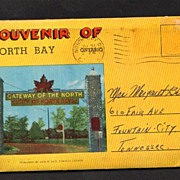 Souvenir Folder of North Bay Ontario Canada