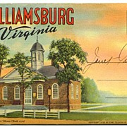 Williamsburg Virginia Linen Souvenir Folder
