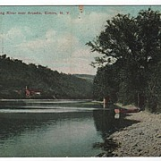 Chemung River near Arcadia Elmira New York NY Postcard
