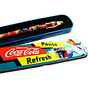 SOLD Coca Cola / Pentech Collectible Pen and Tin Presentation Case