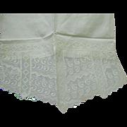 Antique Victorian Eyelet Pillow Shams, Pair