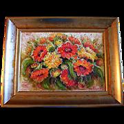 SALE Original Oil Painting Tuija Piepponen Finland Artist Actress Finnish Flowers