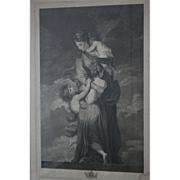 SALE Museum Worthy Oxford Univ 18th Century Antique Stippel Engraving c1790s Charity by Facius
