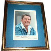 SALE Authentic Ronald Reagan Signed Photograph