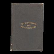 Key to Robinsons New Elementary Algebra Book