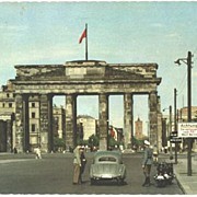 Vintage Berlin The Wall Germany Check Point 1956 Postcard