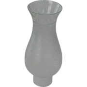 Small Etched Victorian Glass Chimney