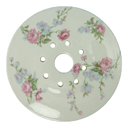 SOLD Shabby Chic Rose China Butter Drain Insert