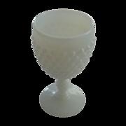 Fenton Wine Glass Hobnail Milk Glass Goblet