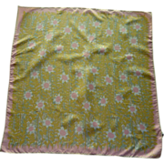 SALE Vera  Sunflower Pink and Yellow Scarf