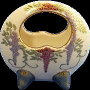 Small Mini China Grape Design Porcelain Basket Bowl