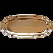 Silver Plate Oval Sandwich Tray Platter Jean Couzon France