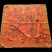 Vera Bright Orange Abstract Sunflower Scarf