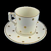 SALE Erphila Star Demitasse Coffee Cup and Saucer