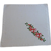 Christmas Bells and Holly Handkerchief