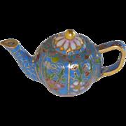 Miniature Asian Cloisonné Tea Coffee Pot