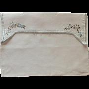 Linen Handkerchief White Envelope Bag