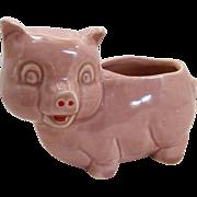 Pink Little Pig Ceramic Planter 1950's
