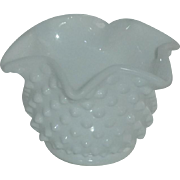 Hob Nail Milk Glass Fenton Star Bonbon Bowl