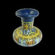 SALE Blue Miniature Hand Painted Pottery Urn Vase