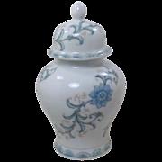 Asian Blue Floral Andrea by Sadek Ginger Jar