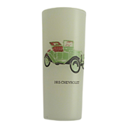 SALE Frosted Vintage 1915 Chevrolet Car Drinking Glass