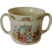 SOLD Royal Doulton Punch and Judy 2 Handled Cup Bunnykins