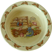 SOLD Royal Doulton Mr. Piggly's Store Bowl Bunnykins