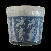 Jeannette Delft Blue Glass Ice Bucket