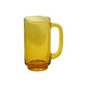 Harvest Gold Glass Gas Station Drinking Mug