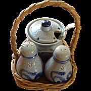 Salt & Pepper Shakers with Sugar Bowl Set