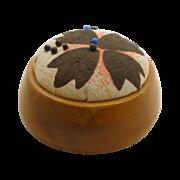 SALE Round Smooth Wood Pin Cushion