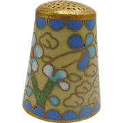 Yellow Daisy Flower Cloisonne Sewing Thimble