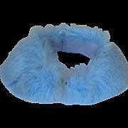 Blue Rabbit Fur Collar Vintage 1950