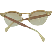 Bronze Copper Color Aluminum Frame Eyeglasses