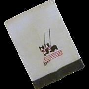 Vintage Scottie Dog Linen Hand Towel