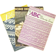Edgings, Home Decoration &Embroidery Stitch Booklets