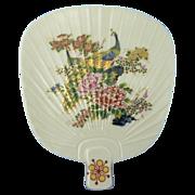Hand Painted Takahashi Fan Shape Porcelain Dish Plate